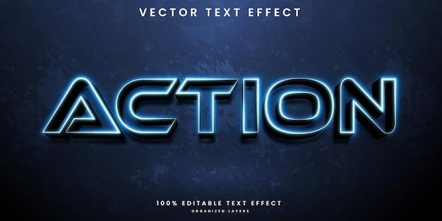 Efeito de texto editável de ação