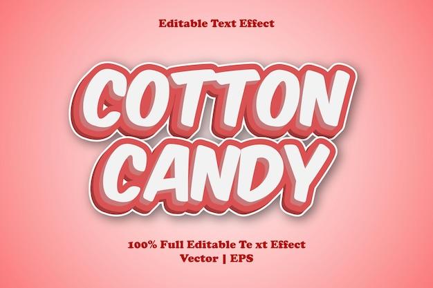 Efeito de texto editável de algodão doce