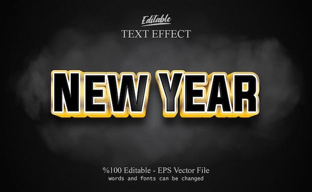 Efeito de texto editável de ano novo