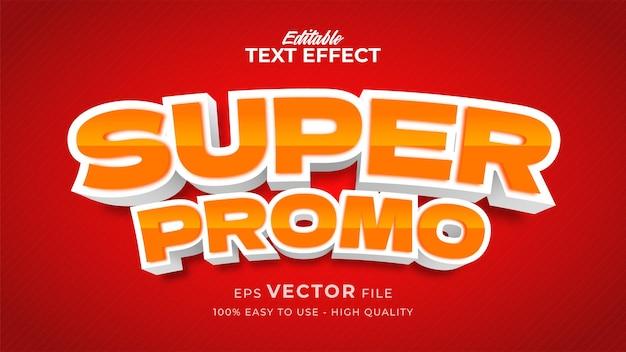 Efeito de texto editável de banner de venda com estilo cômico