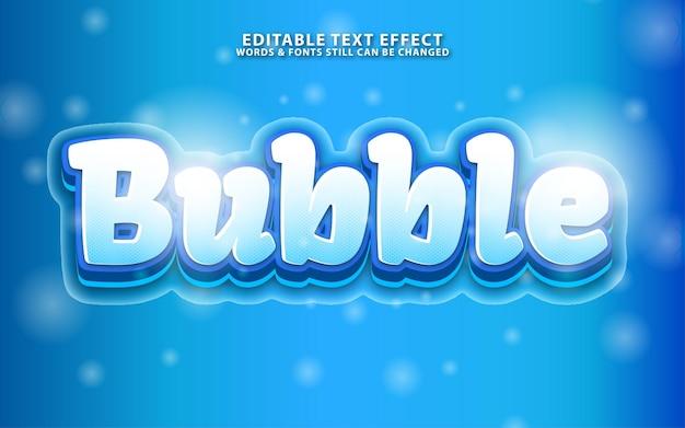 Efeito de texto editável de bolha azul