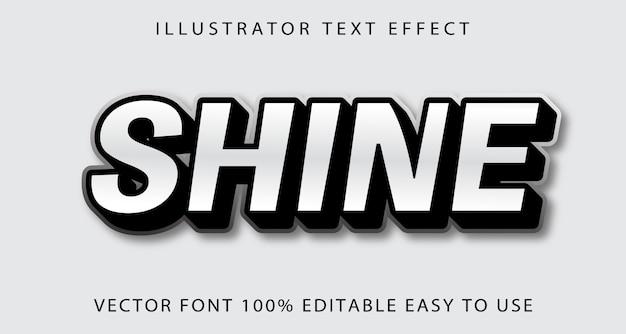 Efeito de texto editável de brilho