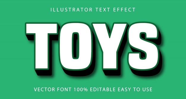 Efeito de texto editável de brinquedos
