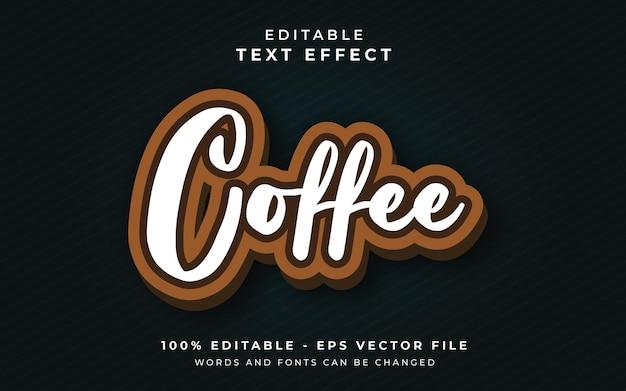 Efeito de texto editável de café