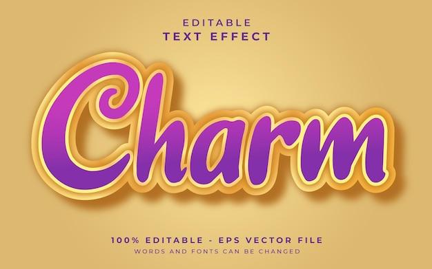 Efeito de texto editável de charme