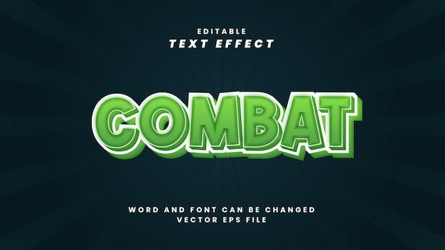 Efeito de texto editável de combate