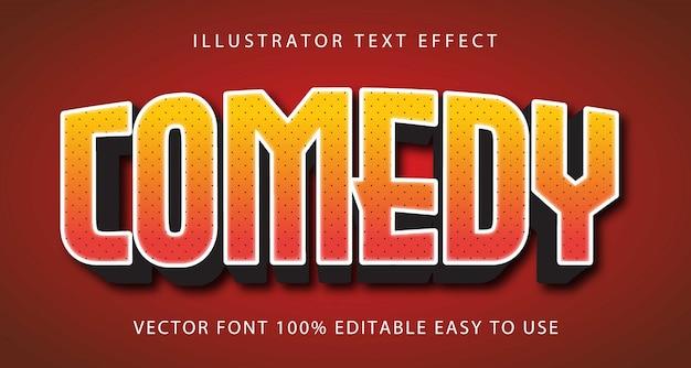 Efeito de texto editável de comédia