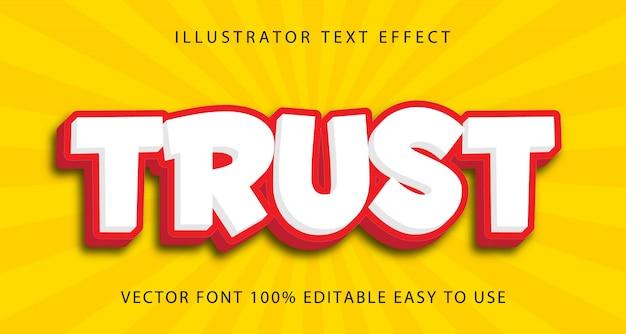Efeito de texto editável de confiança