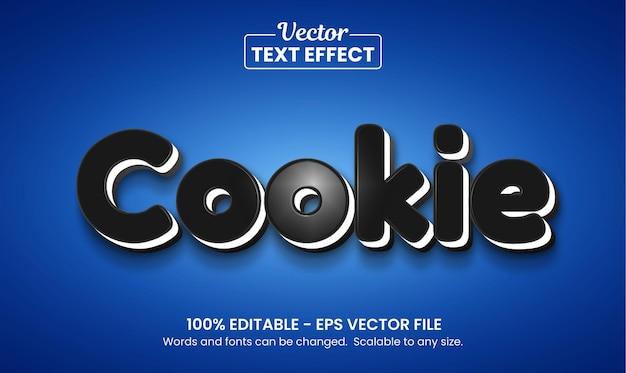 Efeito de texto editável de cookie