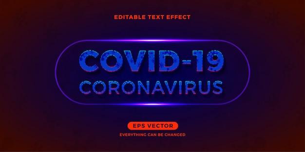 Efeito de texto editável de coronavírus