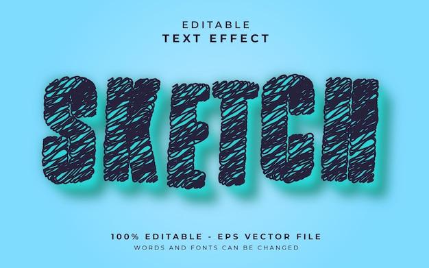Efeito de texto editável de esboço