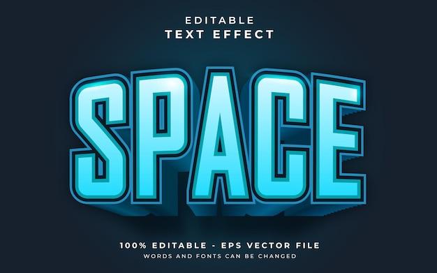 Efeito de texto editável de espaço