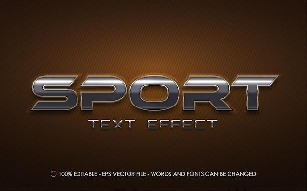 Efeito de texto editável de esporte