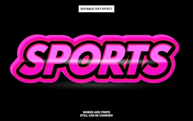 Efeito de texto editável de esportes
