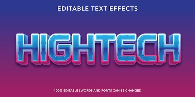Efeito de texto editável de estilo 3d de tecnologia