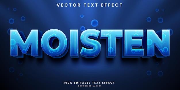 Efeito de texto editável de estilo aquático