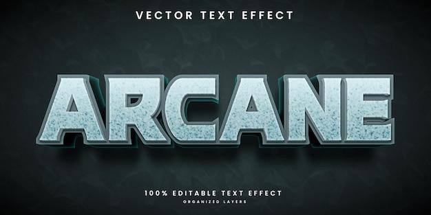 Efeito de texto editável de estilo arcano