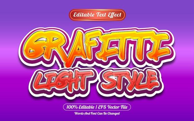 Efeito de texto editável de estilo claro estilo graffiti