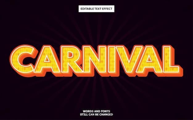 Efeito de texto editável de estilo de carnaval