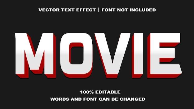 Efeito de texto editável de estilo de filme
