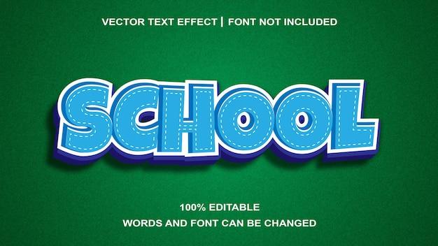 Efeito de texto editável de estilo de texto da escola