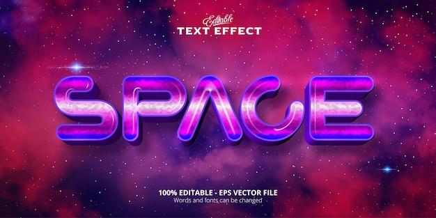 Efeito de texto editável de estilo gradiente de texto de espaço