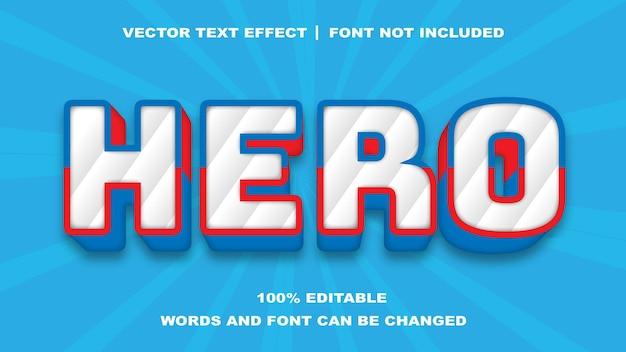 Efeito de texto editável de estilo herói