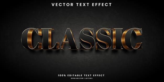 Efeito de texto editável de estilo luxuoso clássico