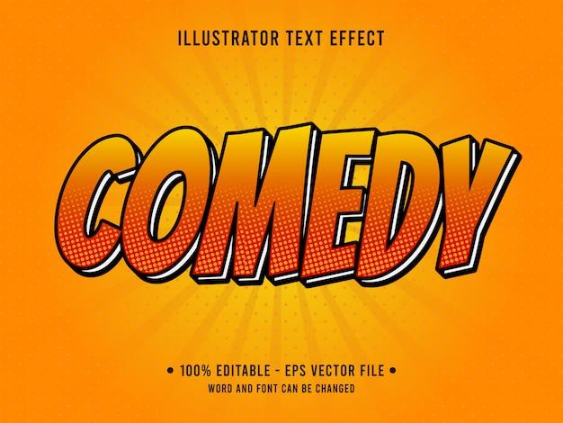 Efeito de texto editável de estilo pop art de comédia