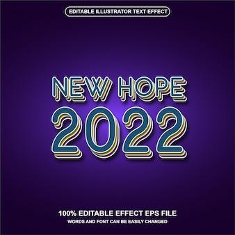 Efeito de texto editável de estilo retro do ano 2022