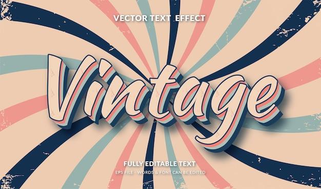Efeito de texto editável de estilo retro vintage