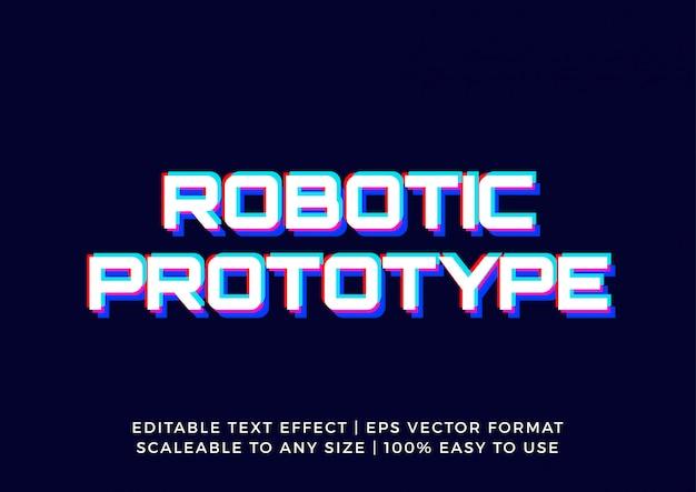 Efeito de texto editável de falha de tecnologia moderna