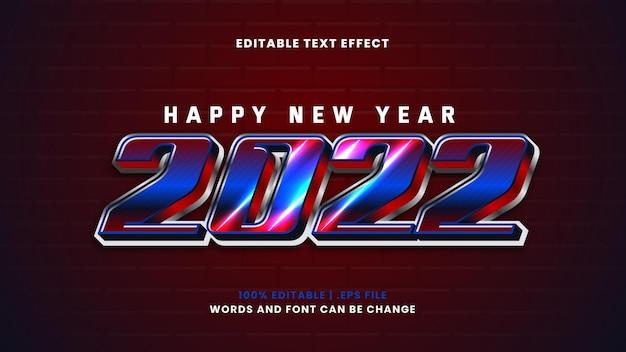 Efeito de texto editável de feliz ano novo em estilo 3d moderno