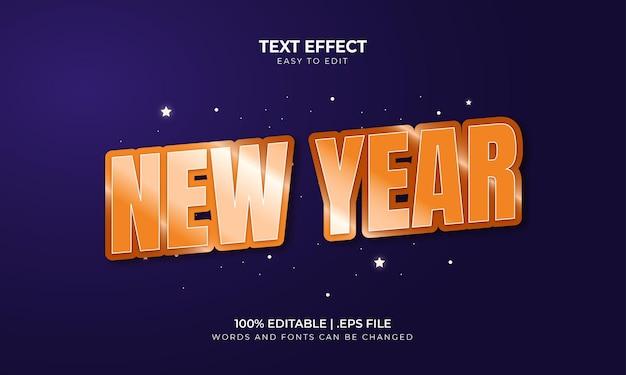Efeito de texto editável de feliz ano novo