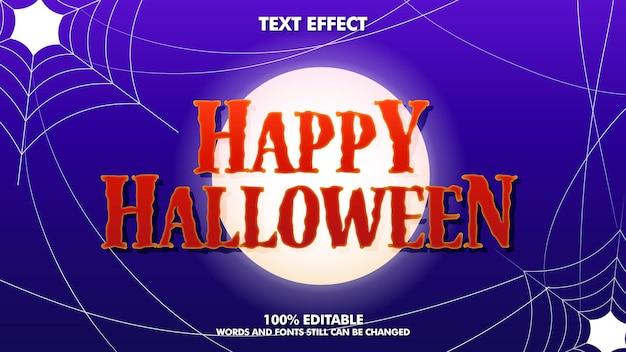 Efeito de texto editável de feliz dia das bruxas