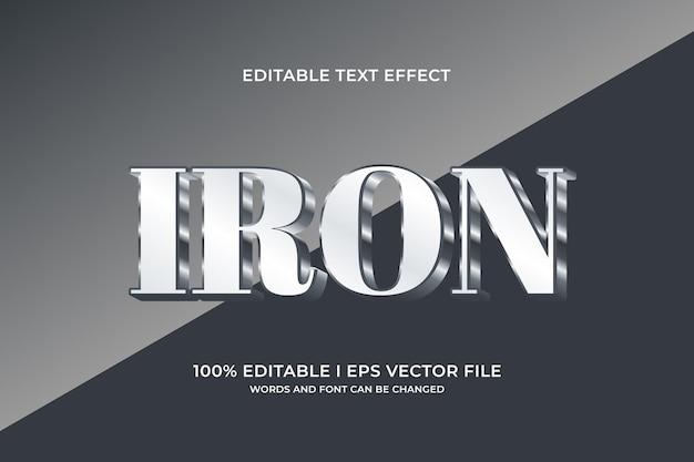 Efeito de texto editável de ferro