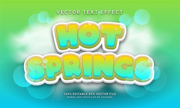 Efeito de texto editável de fontes termais com tema de inverno