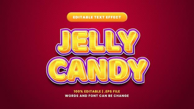 Efeito de texto editável de gelatina em estilo 3d moderno