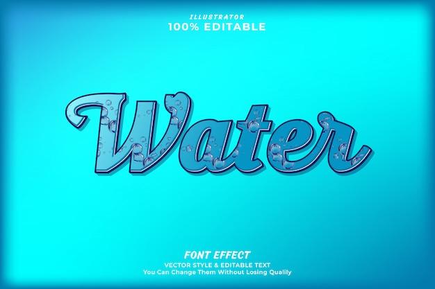 Efeito de texto editável de gota de água premium