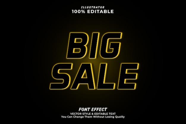 Efeito de texto editável de grande venda