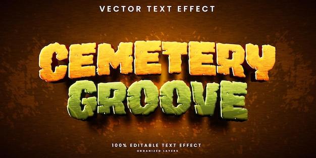Efeito de texto editável de groove de cemitério