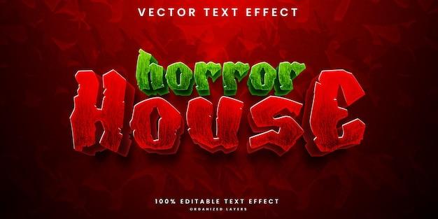 Efeito de texto editável de horror house