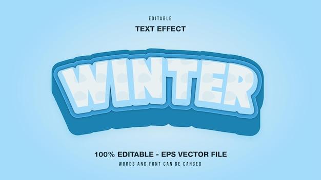 Efeito de texto editável de inverno