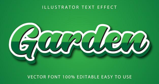 Efeito de texto editável de jardim