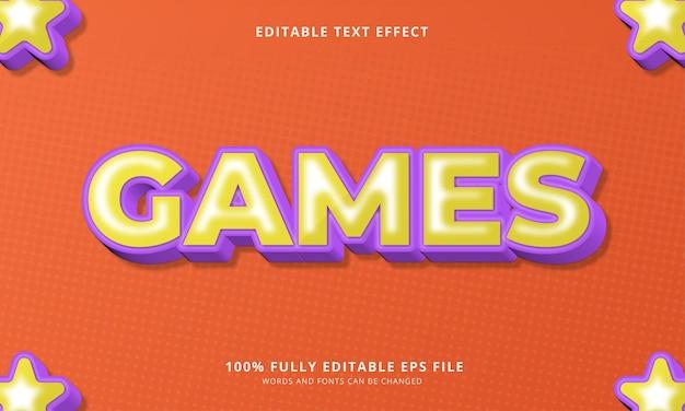 Efeito de texto editável de jogos