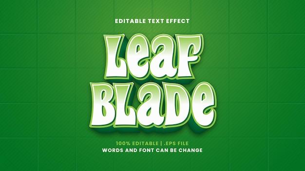Efeito de texto editável de lâmina de folha em estilo 3d moderno