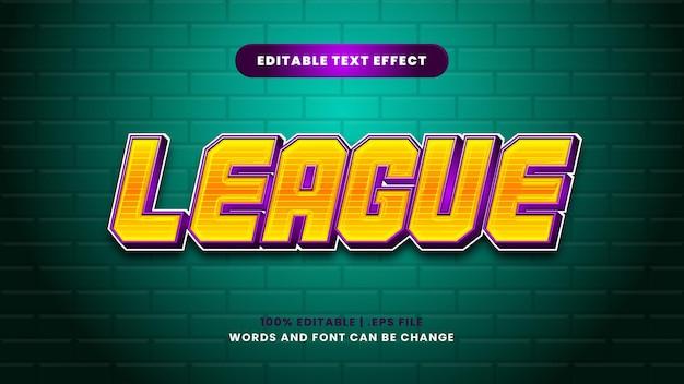 Efeito de texto editável de liga em estilo 3d moderno