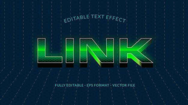 Efeito de texto editável de link