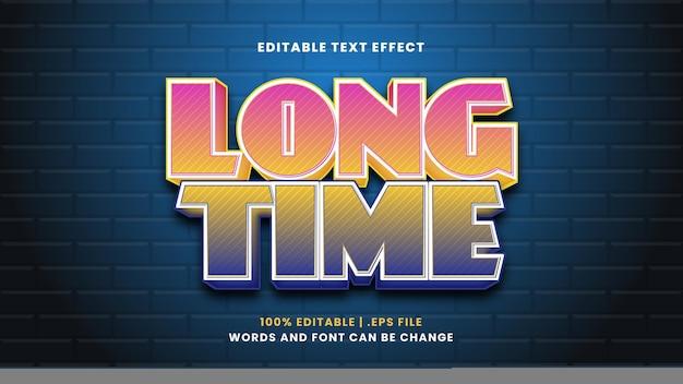 Efeito de texto editável de longa data em estilo 3d moderno