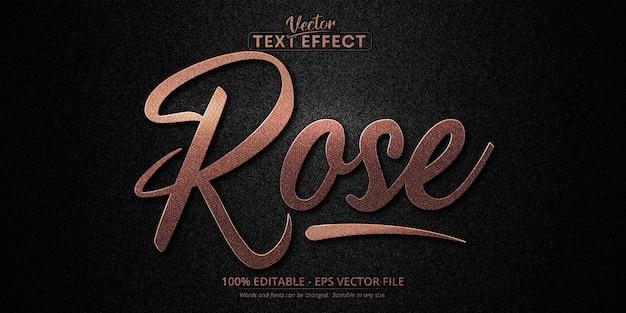 Efeito de texto editável de luxo em ouro rosa